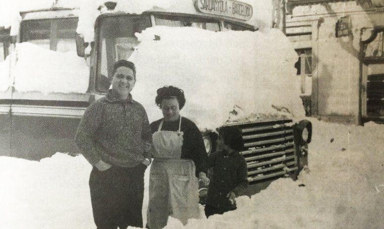 La Família Prieto durant la nevada