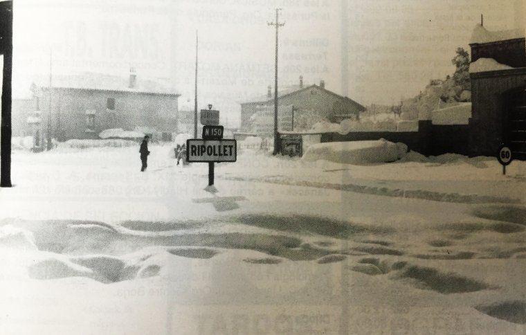 Imatge de la zona dels Quatre Cantons durant la nevada de l'any 1962