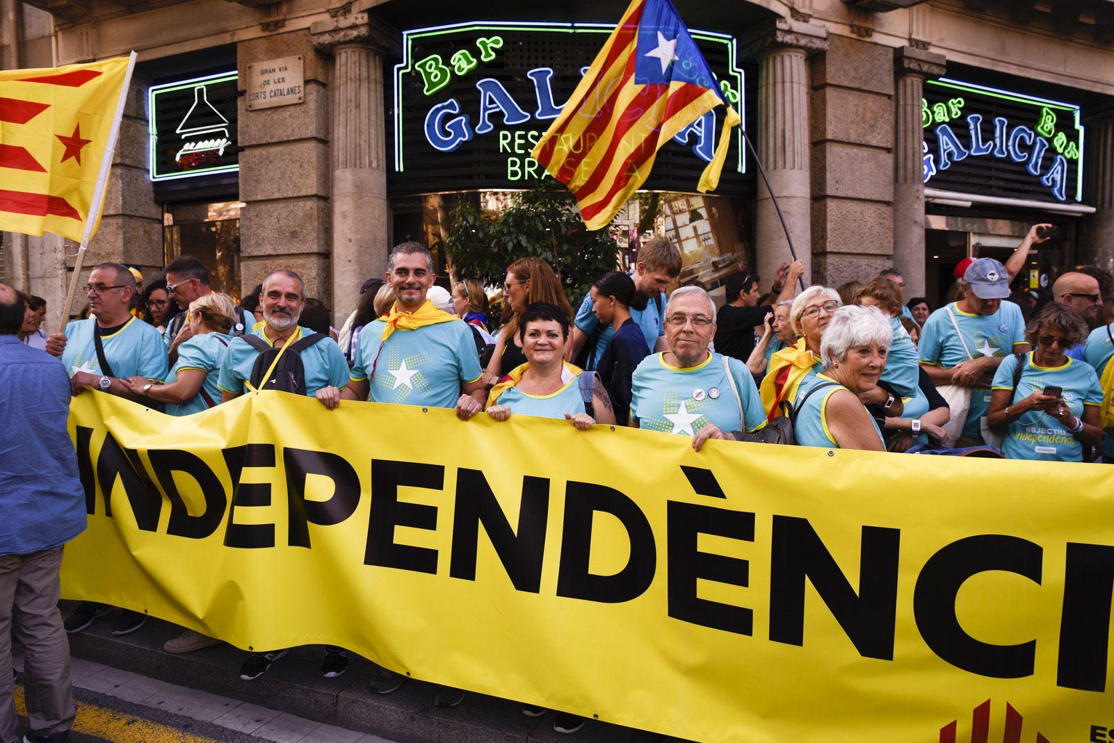Membres d'ERC a la manifestació de Barcelona