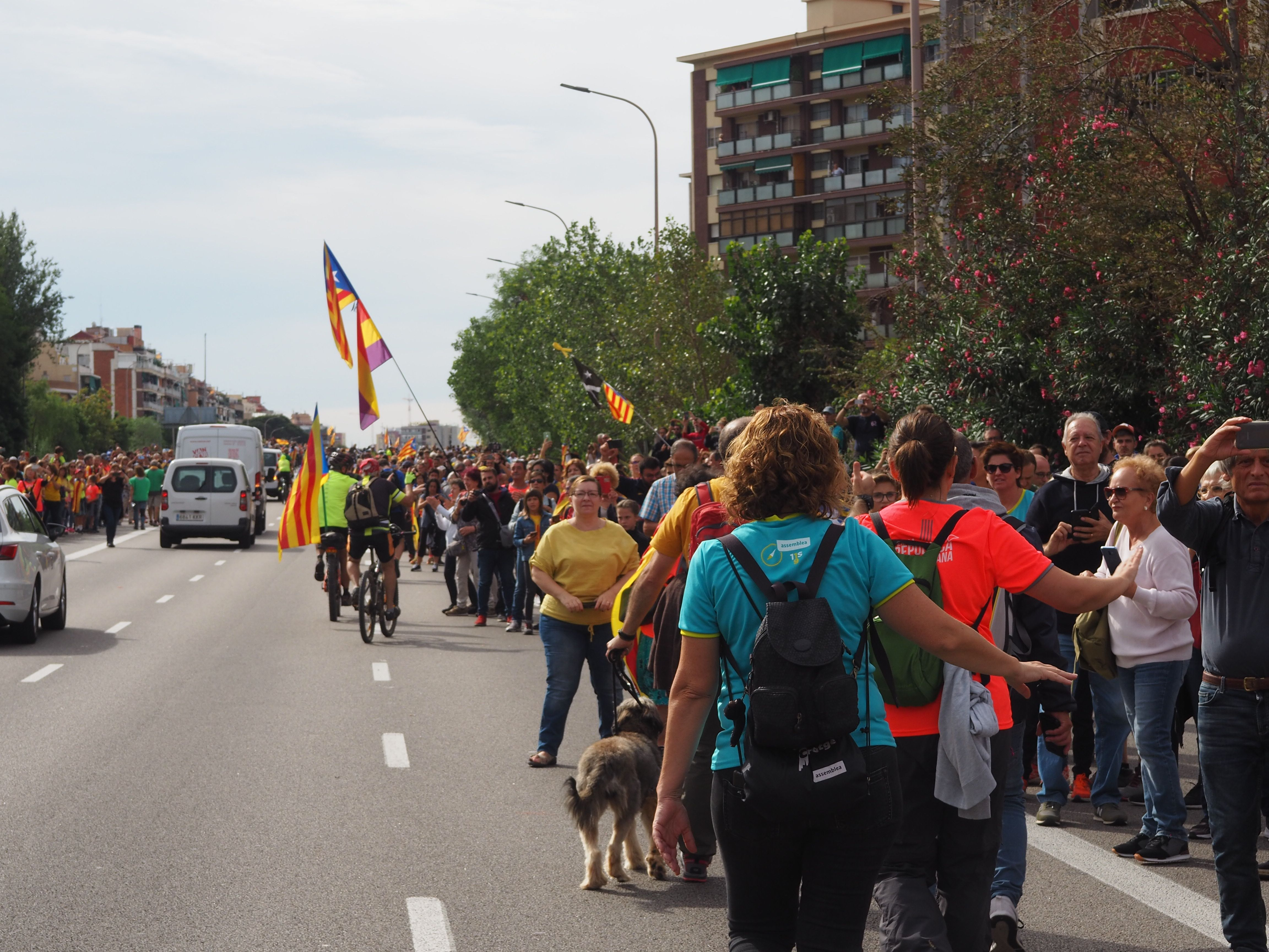 Marxa per la llibertat en resposta a la sentència del Tribunal Suprem. FOTO: Mónica García