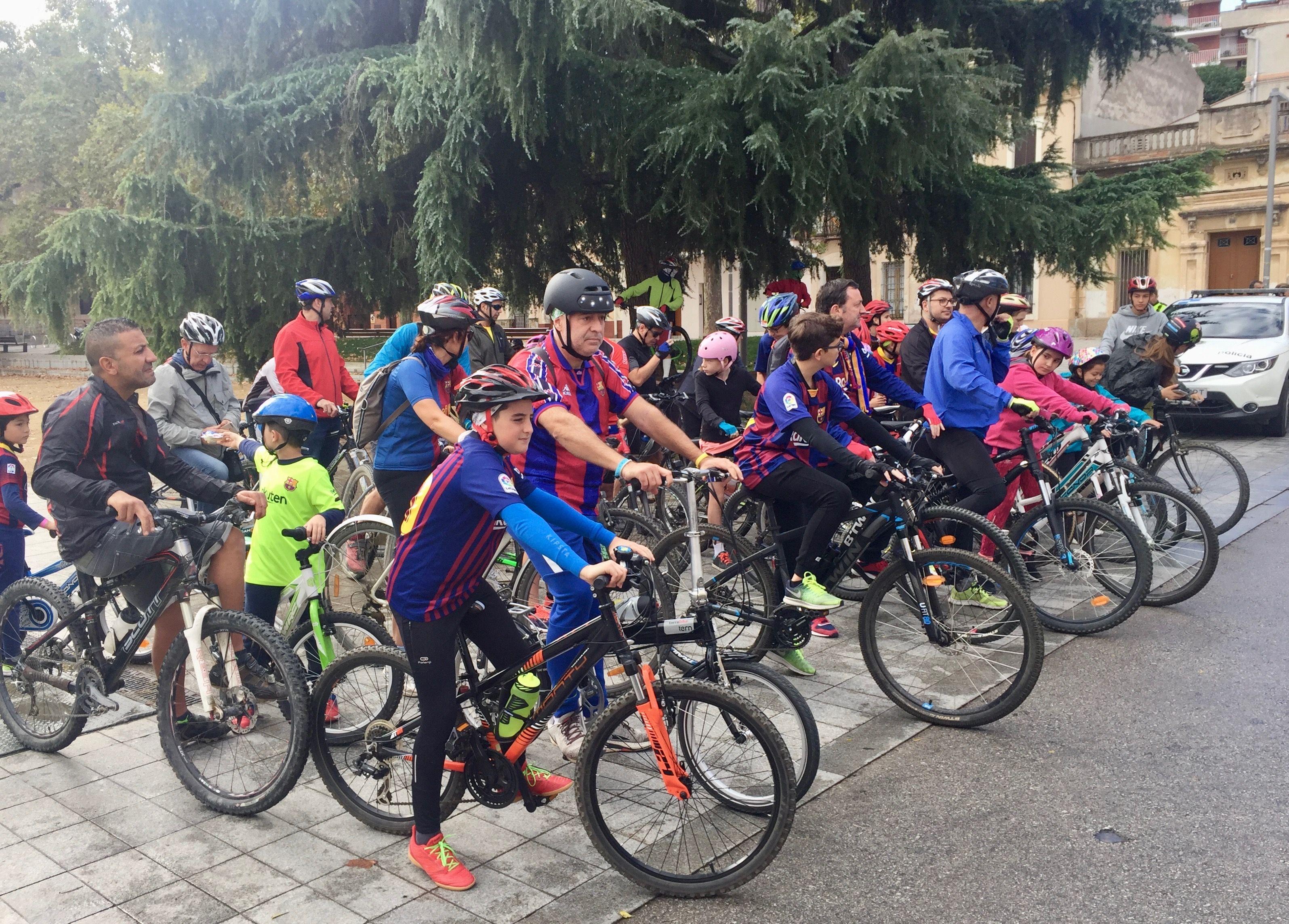 La pedalada de la Penya Blaugrana Jove