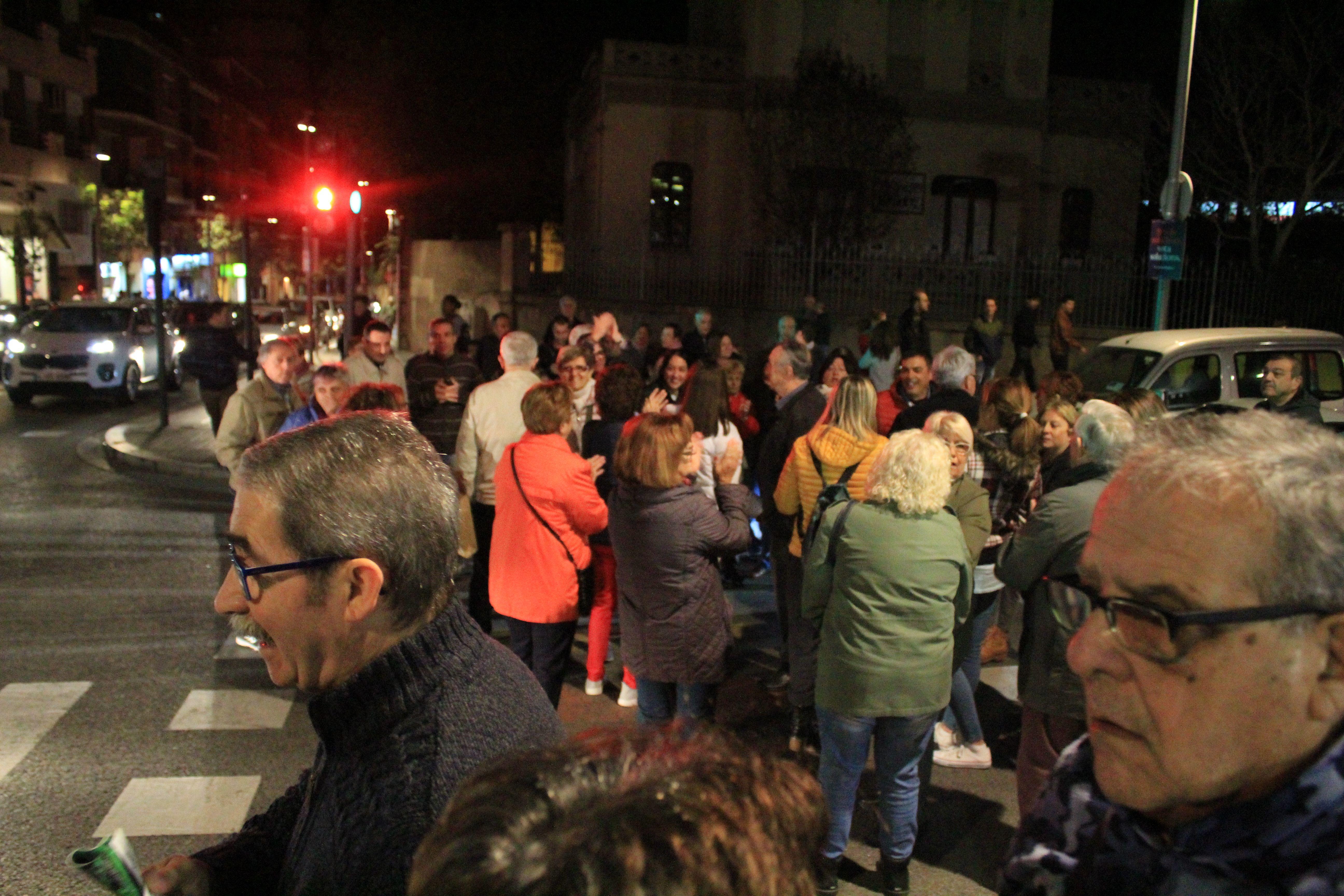 Els concentrats el 6 de novembre de 2019 van tallar alguns carrers del centre de Cerdanyola