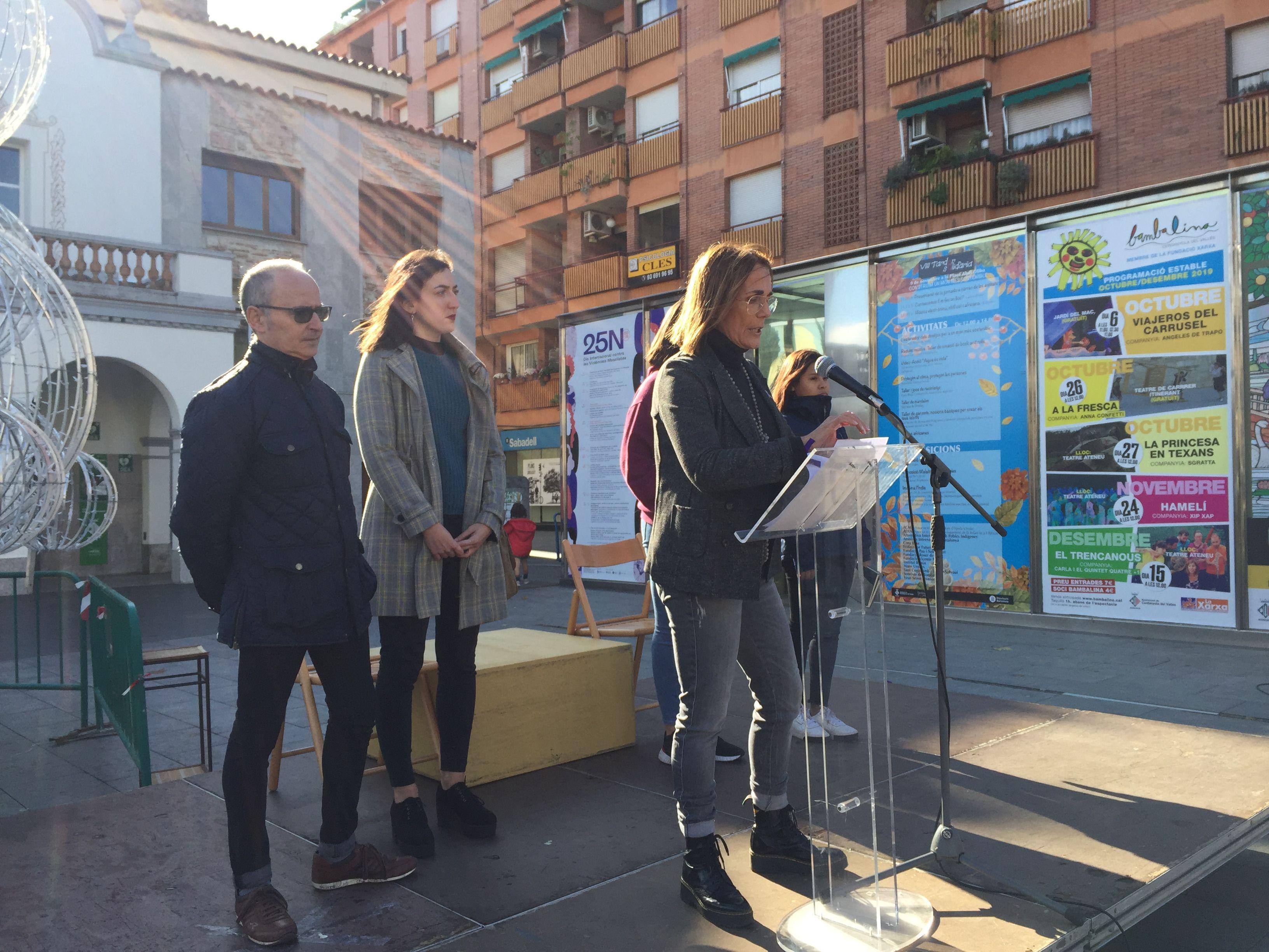 Glòria Urbano rebutja les violències masclistes