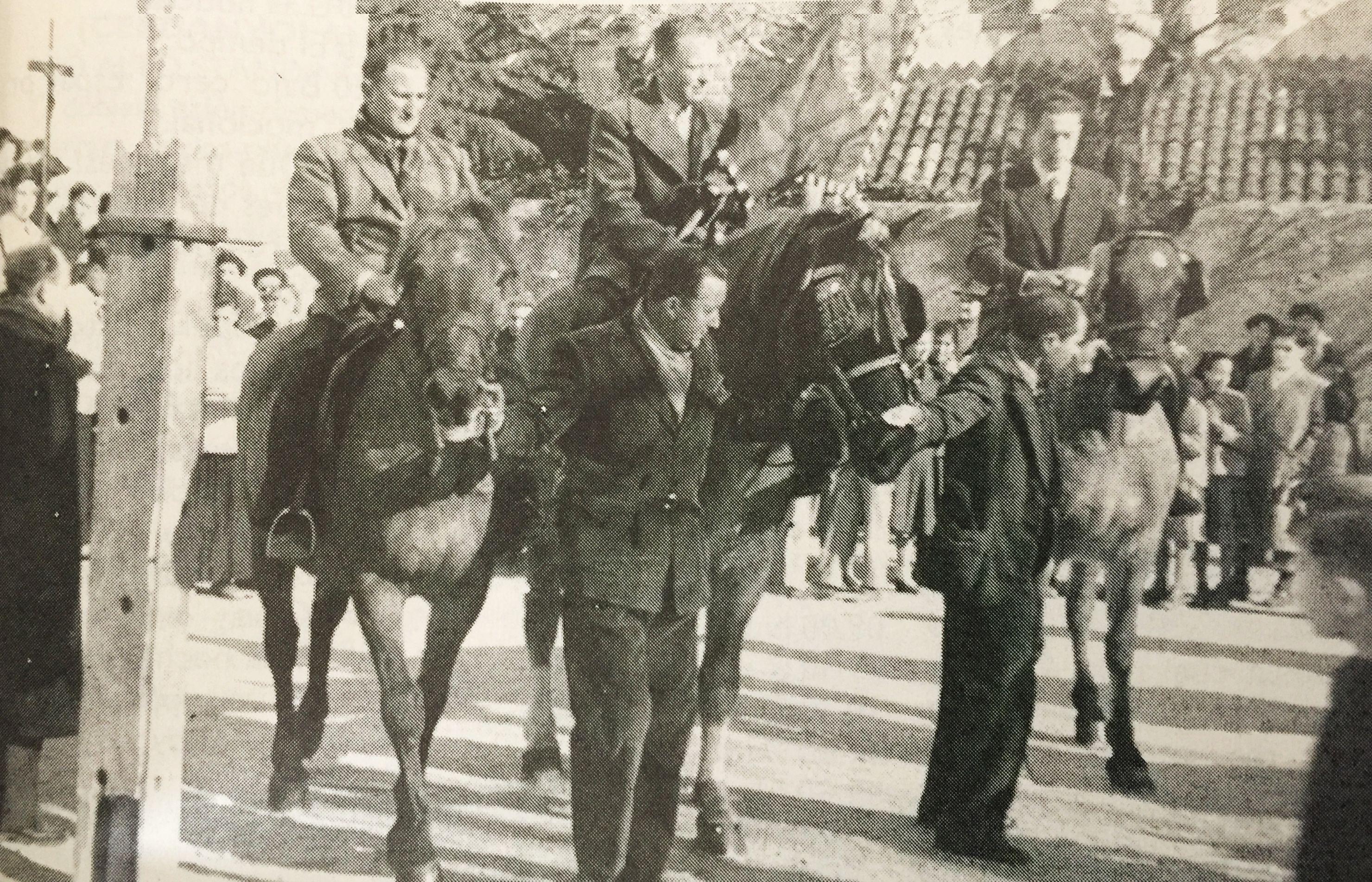 Festa de Sant Antoni Abat a Cerdanyola, 1953. FOTO: Cedida per la Família Vidal