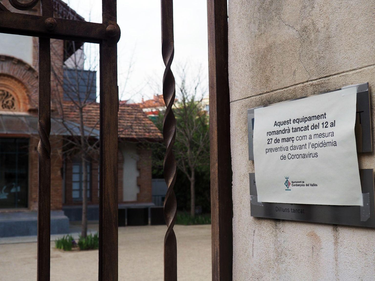 El Museu d'Art de Cerdanyola també ha tancat portes. FOTO: Mónica García Moreno