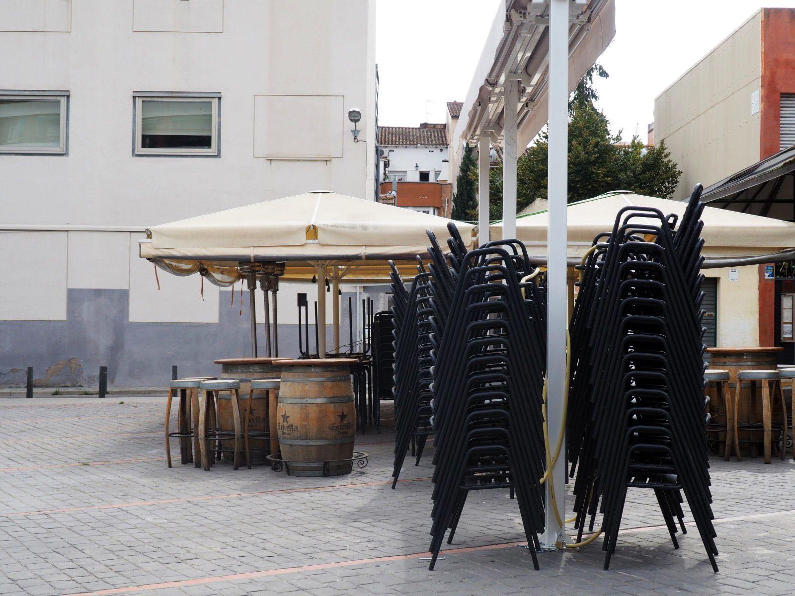 Els bars i restaurants també s'han vist obligats a tancar. FOTO: Mónica García Moreno