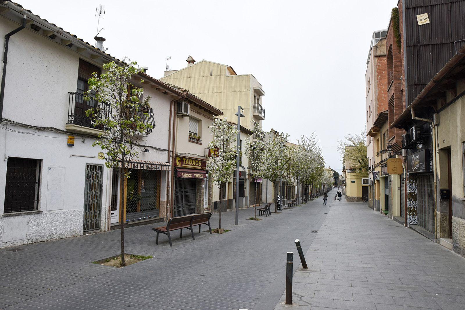 Carrer Sant Ramon durant l'estat d'alarma. FOTO: Bernat Millet