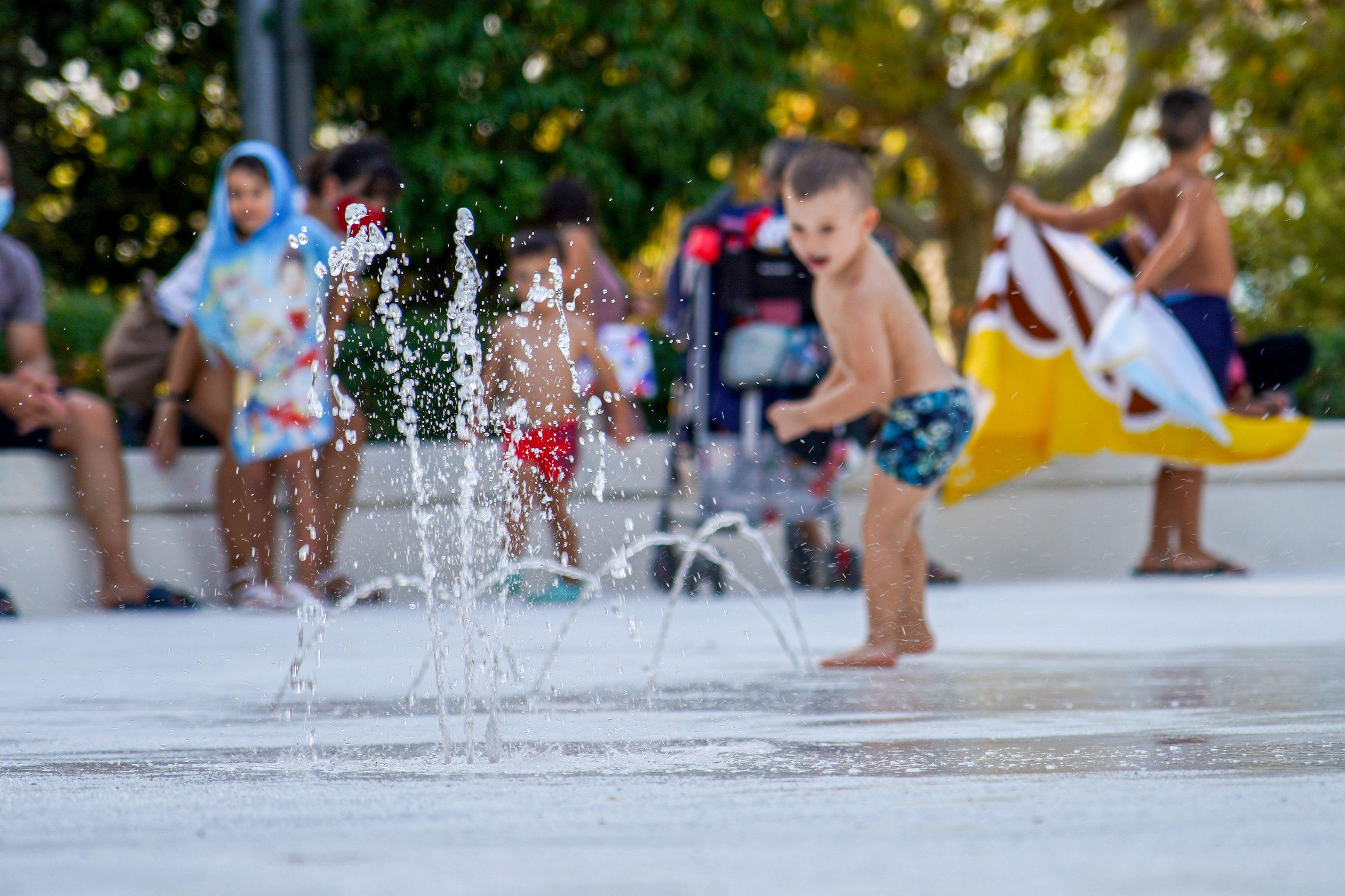 Les fotografies de les zones dels jocs d'aigua a Cerdanyola