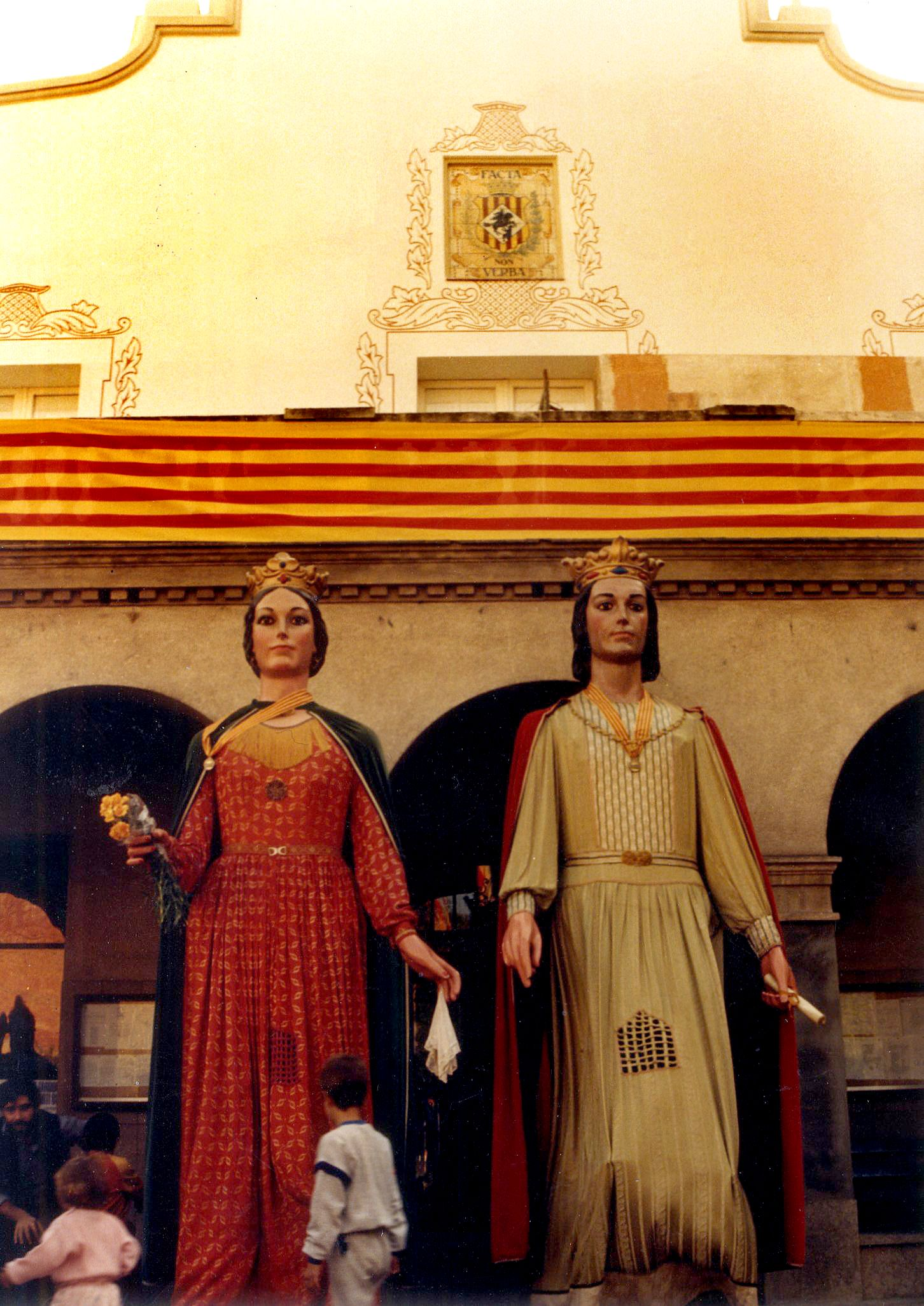 Els gegants de Cerdanyola l'any 1985. Autor: Pepe Urbano