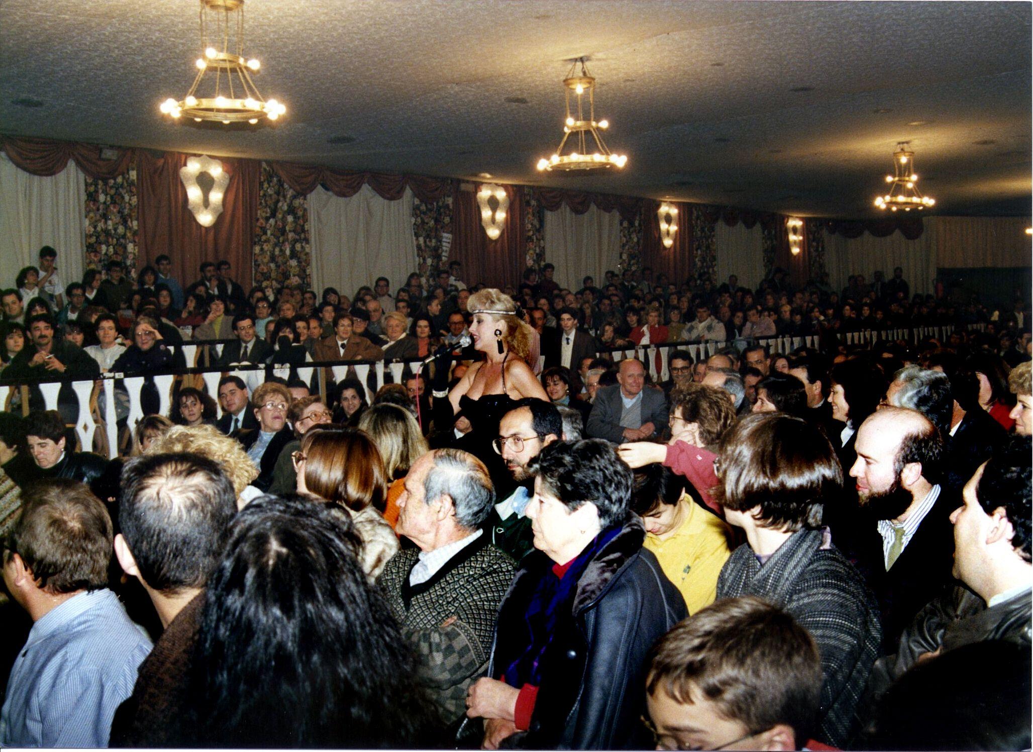 Actuació a 'L'Embalat' l'any 1991. Autor: Pepe Urbano