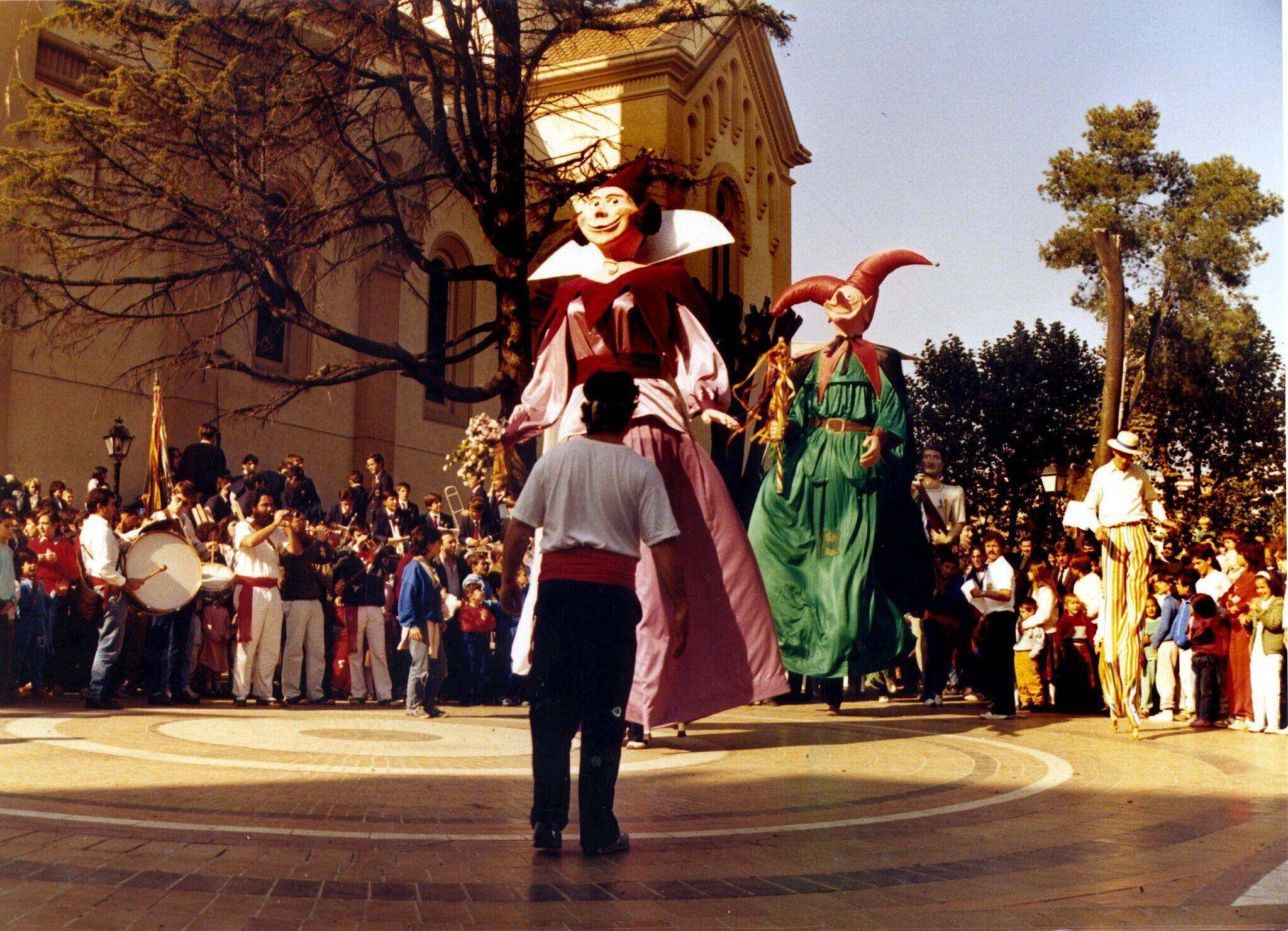 La cercavila de Sant Martí a finals dels anys 80. Autor: Pepe Urbano