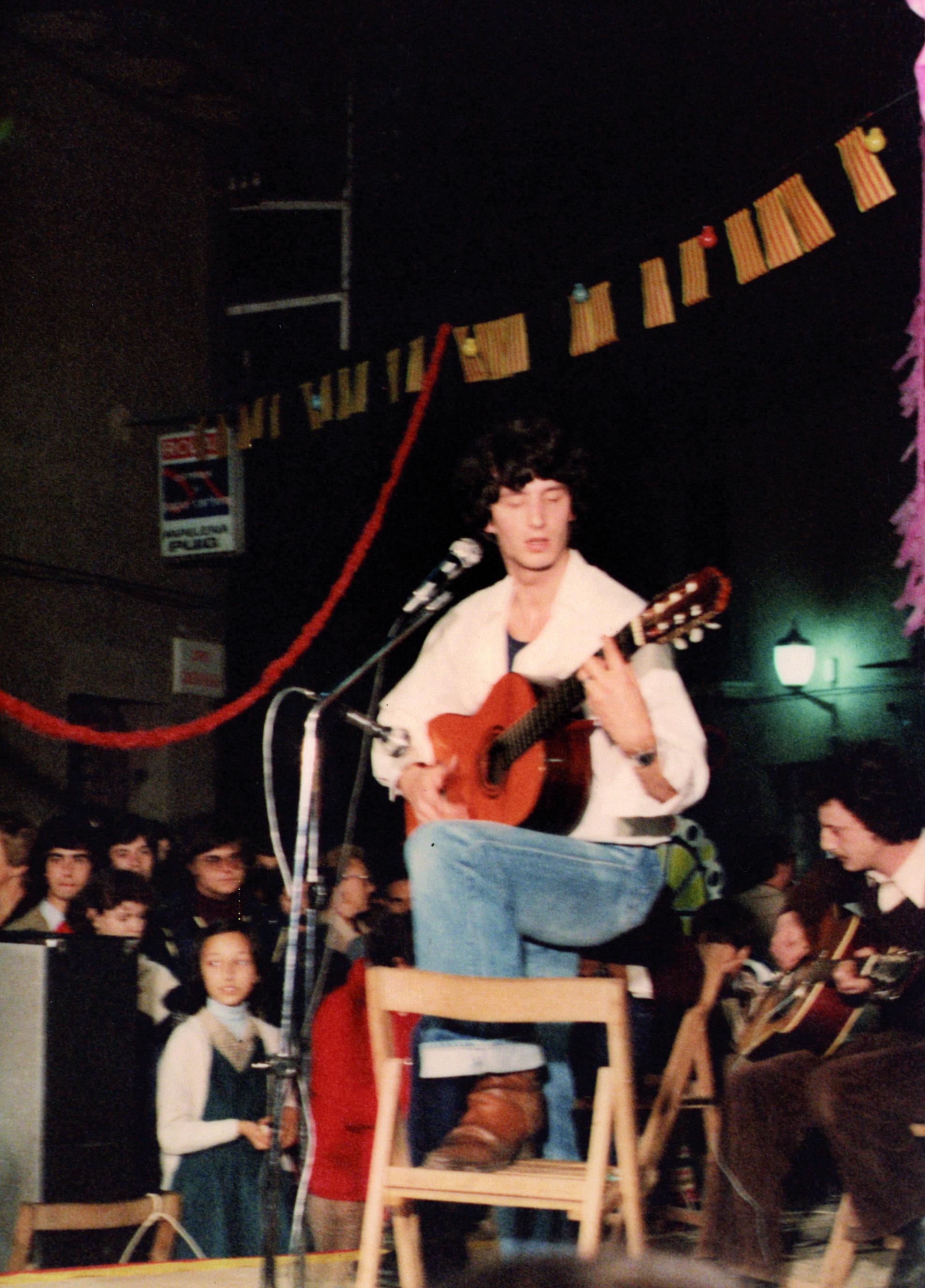 El cerdanyolenc Ramon Sauló actuant a la primera festa de Sant Martí. Autor: Cedida
