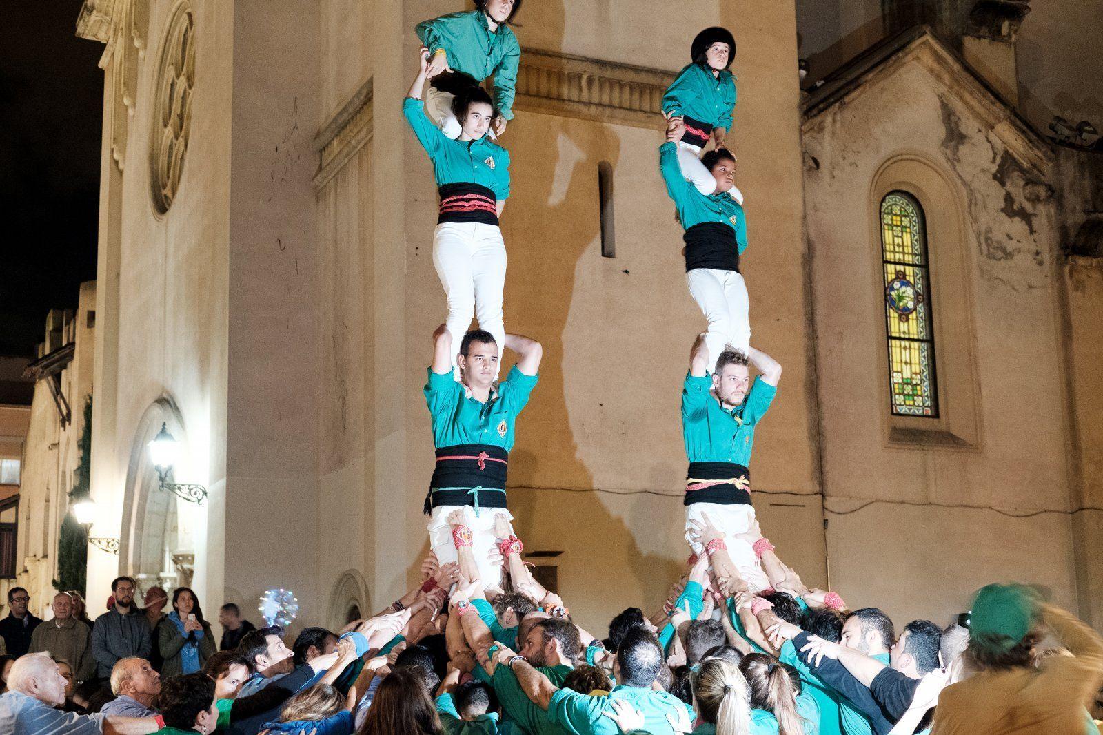 Els Castellers de Cerdanyola l'any 2018. Autor: Ale Gómez
