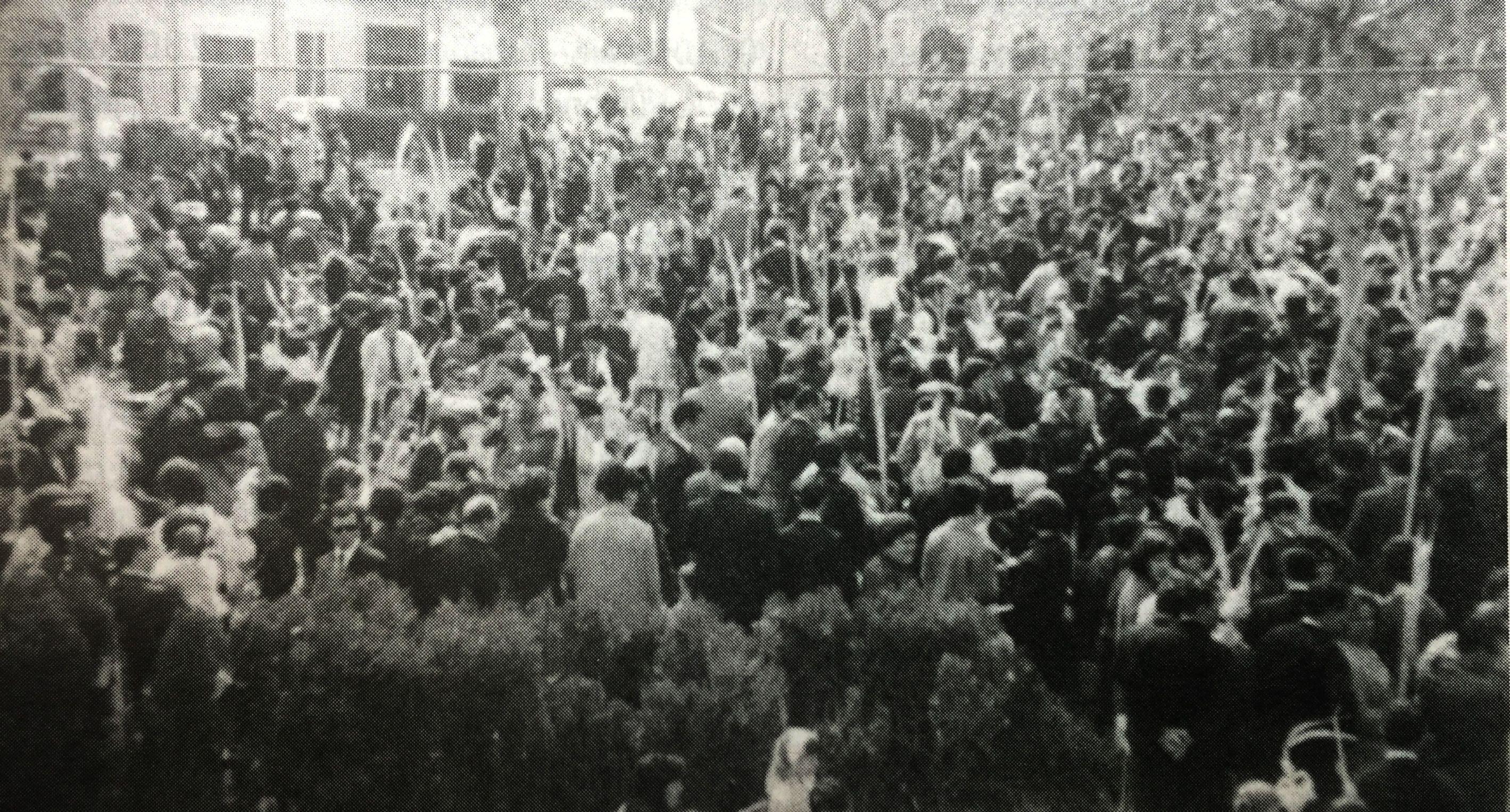 Diumenge de Rams a la Plaça Sant Ramon, anys 60. FOTO: Arxiu del TOT