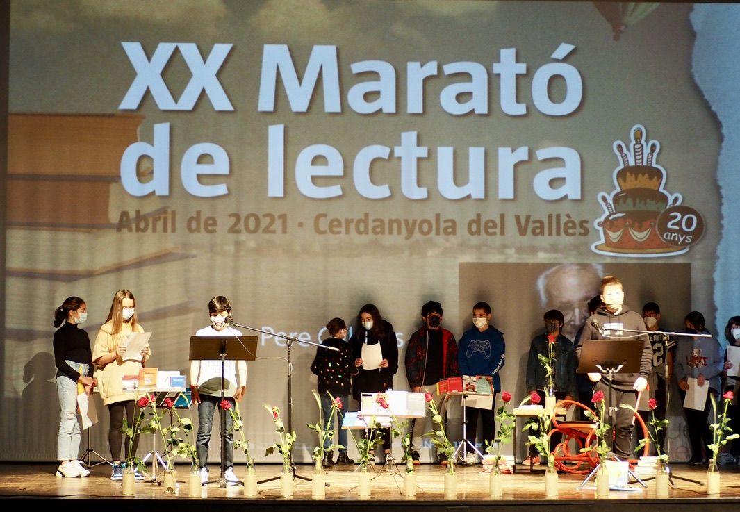 Marató de Lectura Sant Jordi 2021 a Cerdanyola. FOTO: Mónica García Moreno