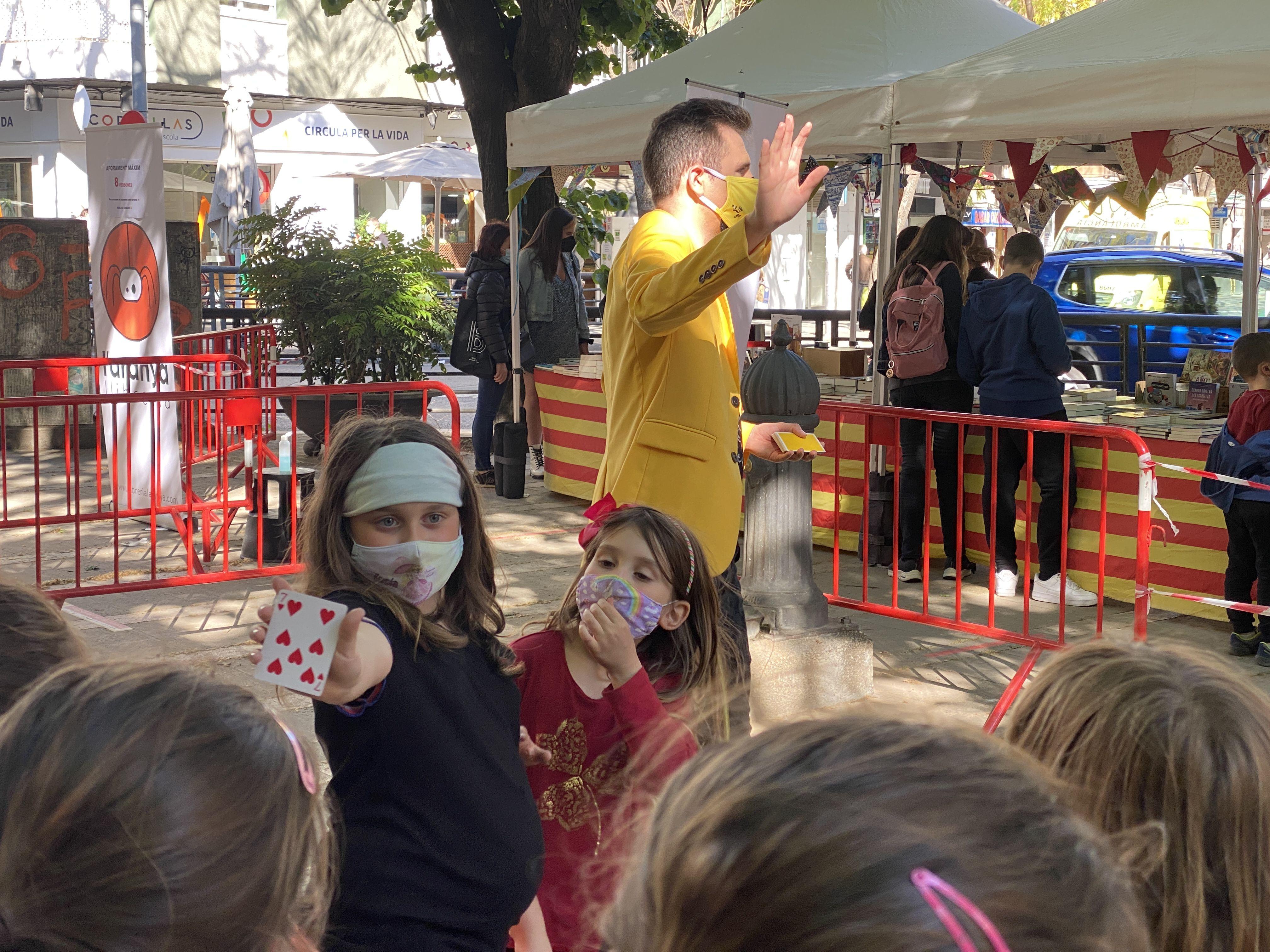 Sant Jordi 2021 a Cerdanyola. FOTO: Laura Arias