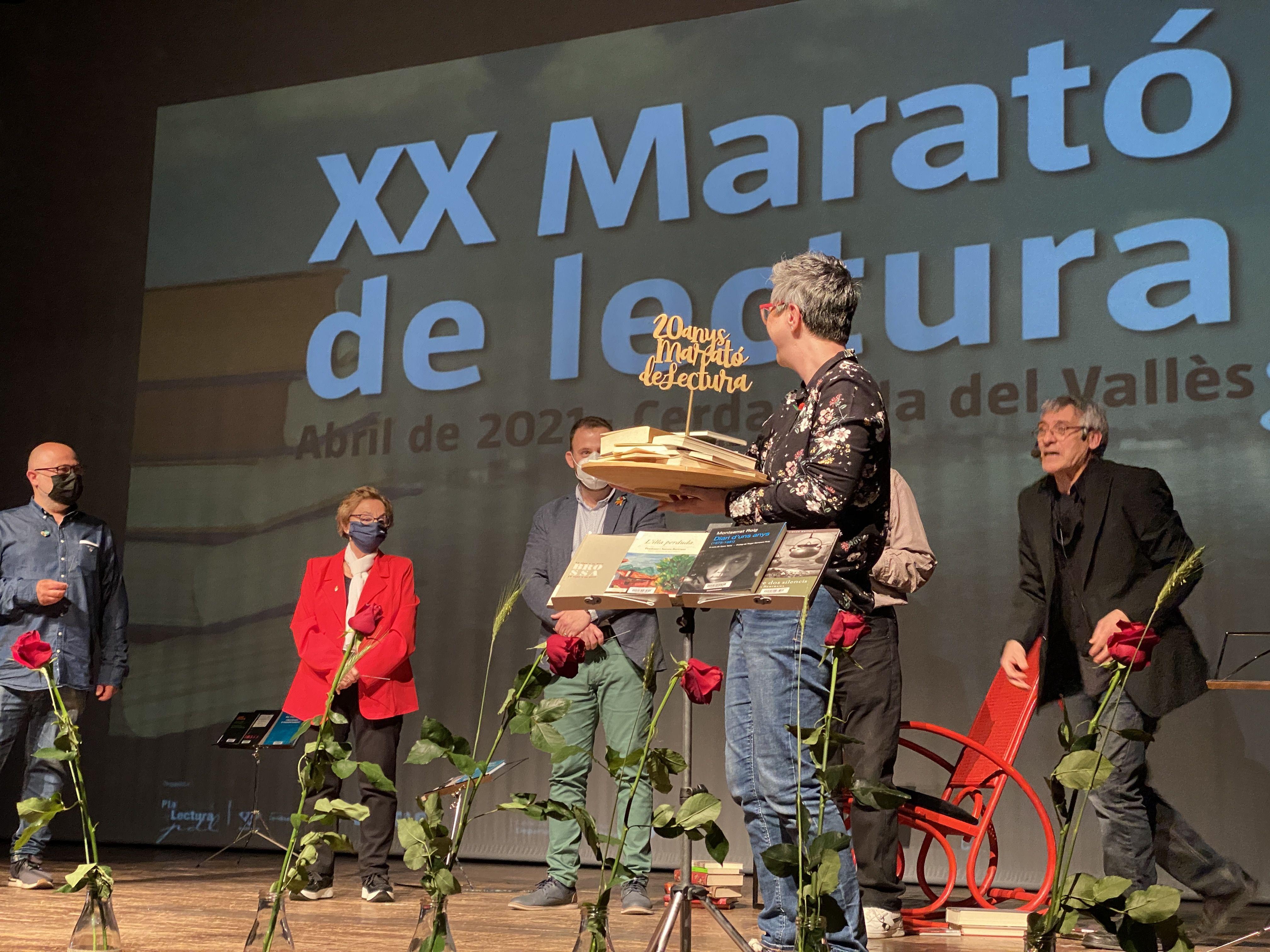 Marató de Lectura Sant Jordi 2021 a Cerdanyola. FOTO: Laura Arias