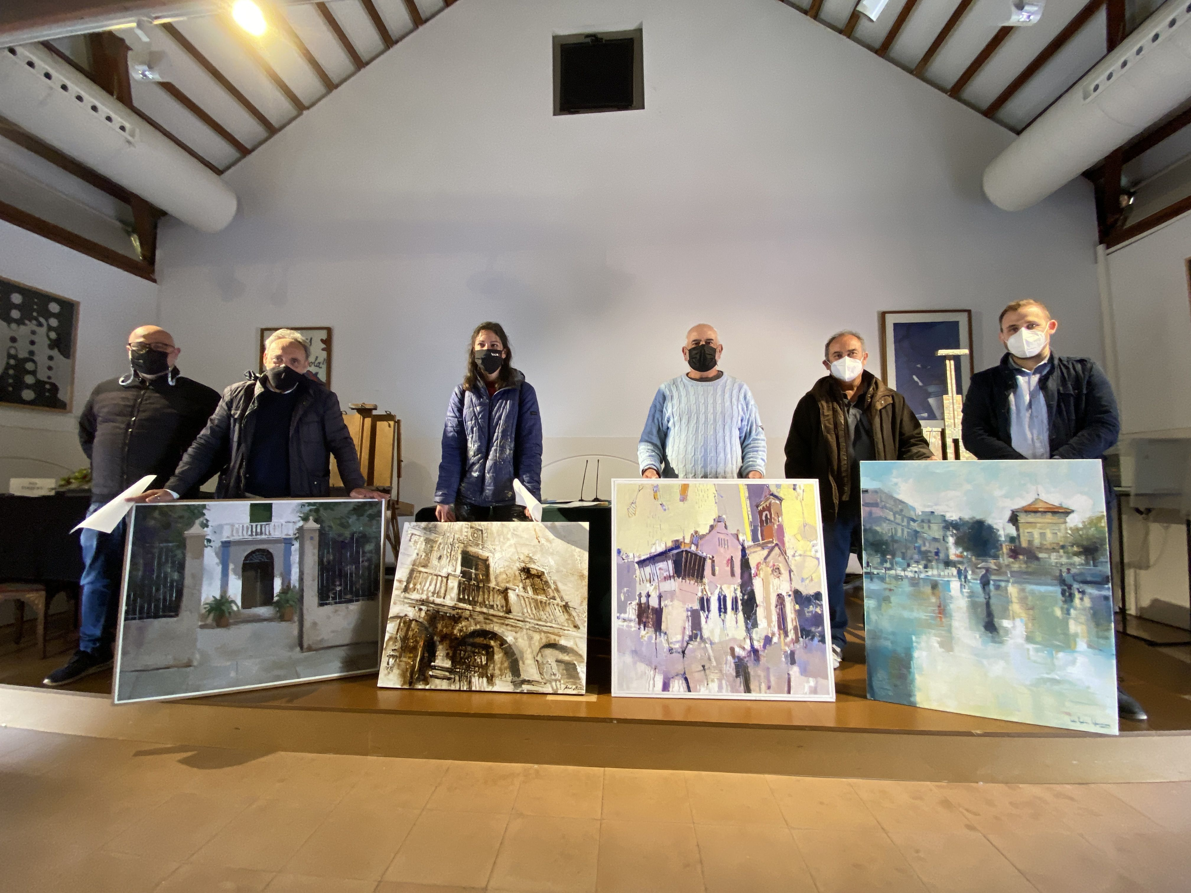 El guanyadors del Concurs de pintura ràpida / FOTO: Laura Arias