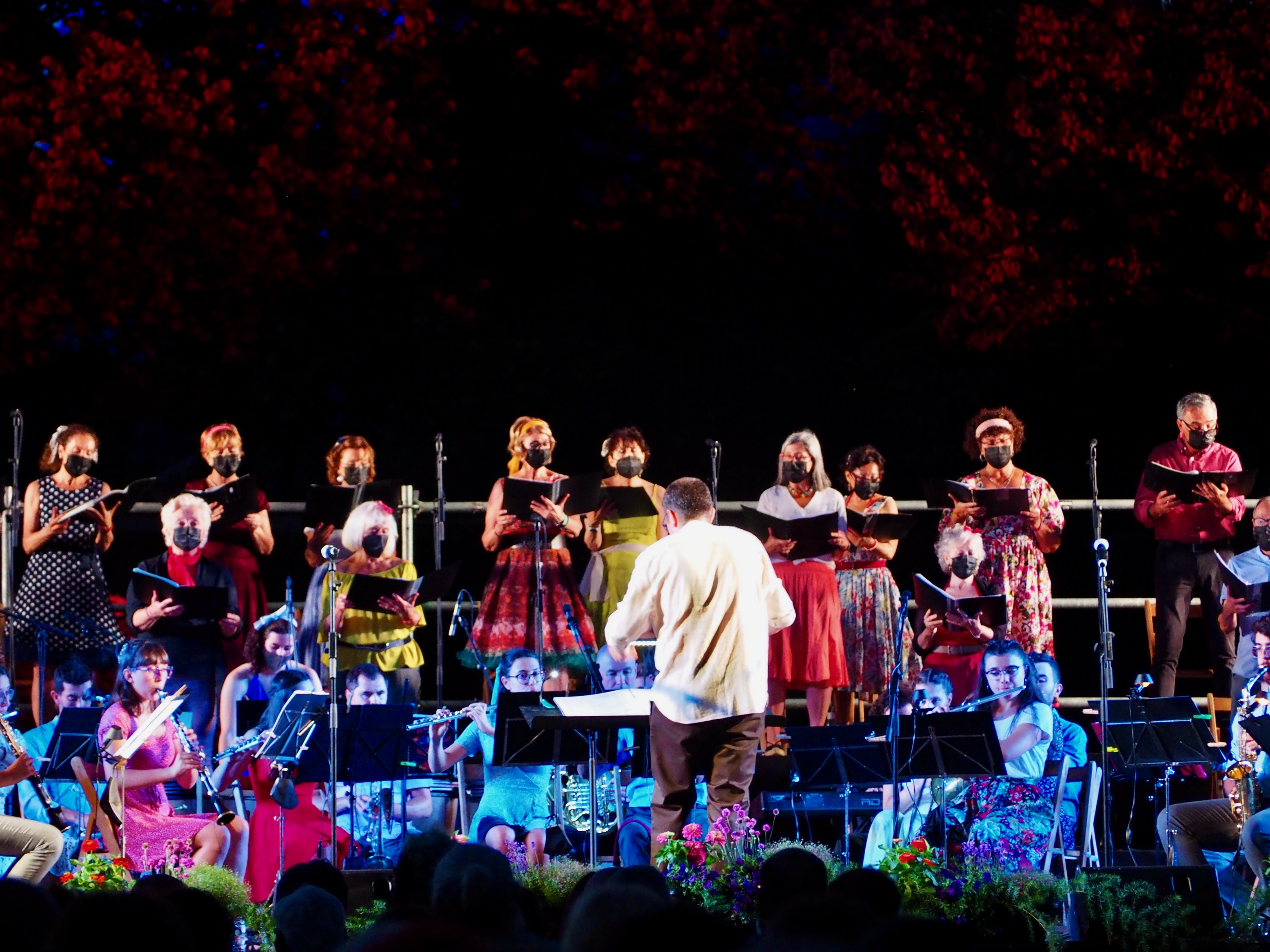 El Concert al Castell 2021 de l'Agrupació Musical de Cerdanyola del Vallès (AMCV). FOTO: Mónica García Moreno