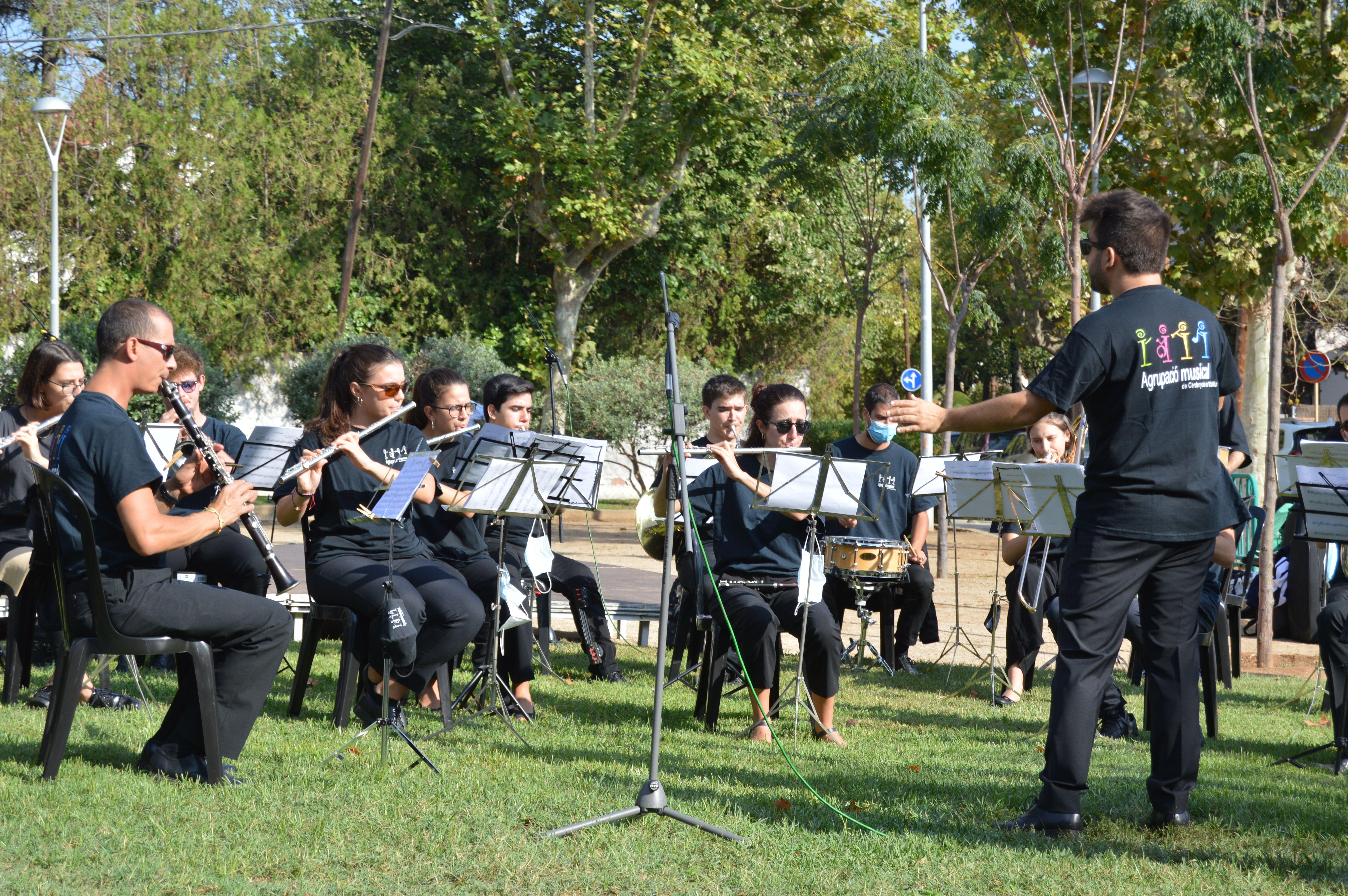 L'AMCV tocant a l'acte de la Diada. FOTO: Nora Muñoz