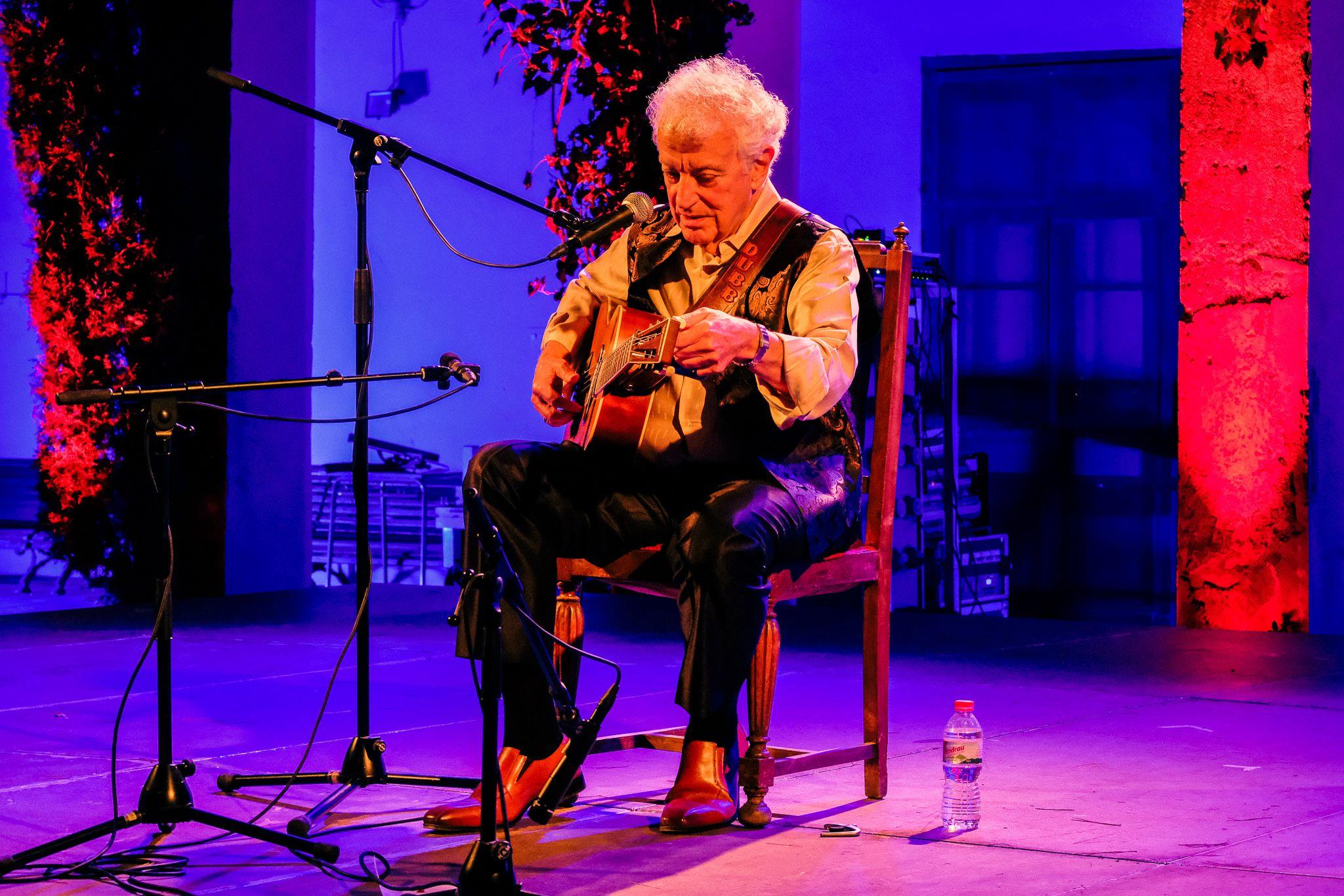 Doug MacLeod la primera nit de Blues, divendres 1 d'octubre. FOTO: Ale Gómez